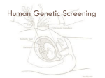 Human Genetic Screening