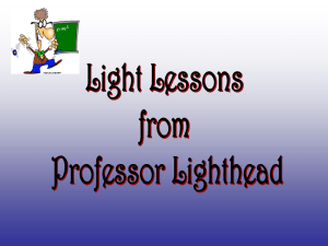 Light Lessons from Dr. Lighthead