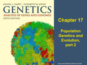 second of Chapter 17, Molecular Evolution and Population Genetics