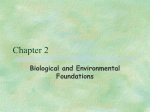 Chapter 2 Biological and Environmental Foundations