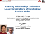 Learning Relationships Defined by Linear Combinations of