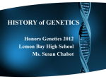 genetics - Lemon Bay High School