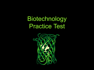 Biotechnology Practice Test