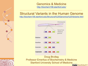 Structural Variants in the Human Genome