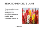 Lesson 6. Beyond Mendel - Blyth-Biology11