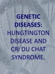genetic diseases/ hungtington disease and cat`s cry sindrome.