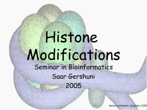 Histone Modifications