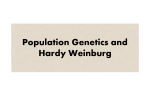 Population Genetics and Hardy Weinburg