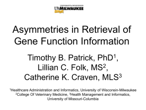Asymmetries in Retrieval of Gene Function Information