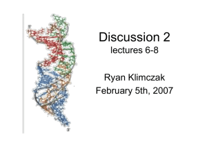 Discussion 2 - Molecular and Cell Biology