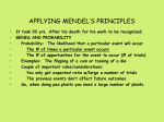 APPLYING MENDEL`S PRINCIPLES