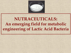 Nutraceuticals- Emerging Field of Metabolic Engineering of Lactic