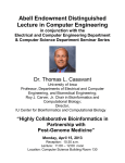 Abell Endowment Distinguished Lecture in Computer Engineering