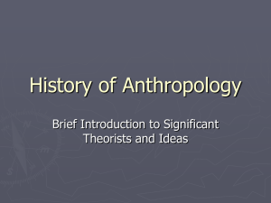 History of Anthropology - Fullerton Union High School