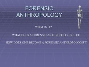 FORENSIC ANTHROPOLOGY - Bio-Guru