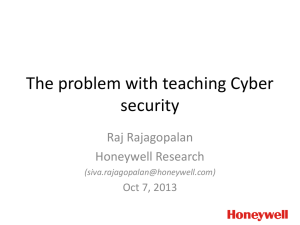 The problem with teaching Cyber security