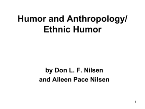 Humor and Anthropology - Arizona State University