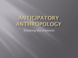 Anticipatory Anthropology
