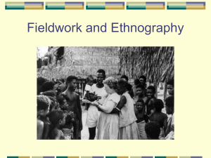Fieldwork and Ethnography