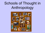 Schools of Thought in Anthropology
