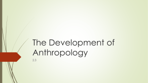 The Development of Anthropology