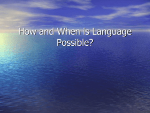 Ottenheimer 08-How and When is Language Possible