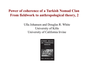 Applications of Structural Endogamy A Turkish Nomadic Clan as