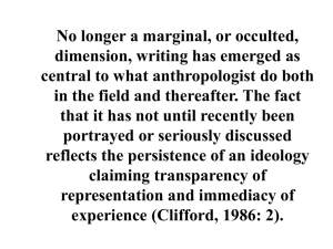 No longer a marginal, or occulted, dimension, writing has emerged