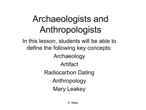 Archaeologists and Anthropologists