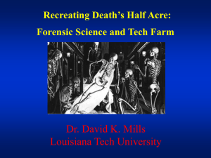 Forensic Anthropology at Louisiana Tech University