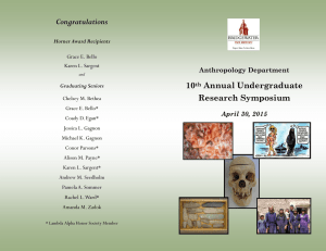 Congratulations 10 Annual Undergraduate Research Symposium
