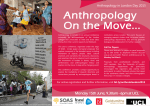 Anthropology On the Move... Anthropology in London Day 2015