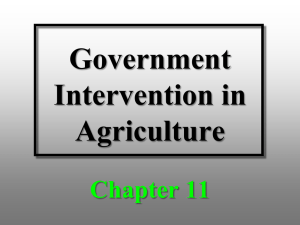 Chapter 11 Powerpoint - Agricultural & Applied Economics
