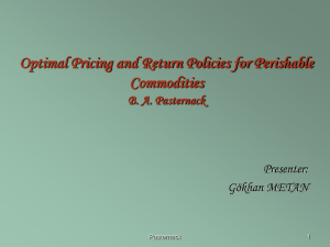 Optimal Pricing and Return Policies for Perishable Commodities