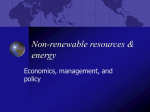 Non-renewable resources & energy
