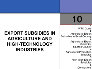 Export Subsidies in Agriculture and High