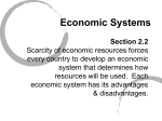 Economic Systems - Columbian High School
