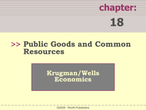 Krugman`s Chapter 20 PPT - Public Goods and Common Resources