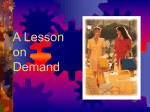 A Lesson on Demand