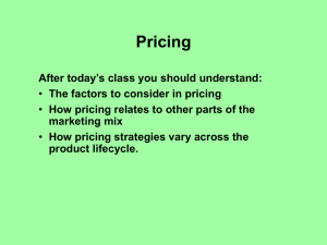 Internal Factors to Consider in Pricing