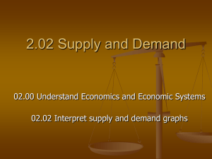 2.02 Supply and Demand