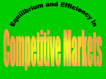 Equilibrium and Efficiency in Competitive Markets or The Interaction