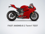 FAST ANSWErS 2 Term1 TEST
