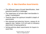 Ch. 4: Merchandise Assortments