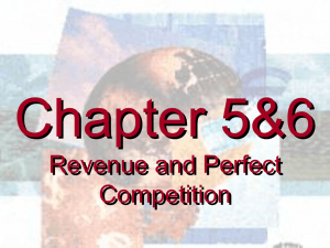 Ch5.3 & 6Revenue and Perfect Competition