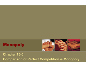 Monopoly Vs. Perfect Competition PPT