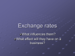 Exchange rates - Business-TES