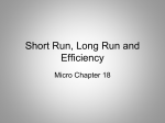 Micro Ch 18- presentation 3 Short Run Long Run and Efficiency-0