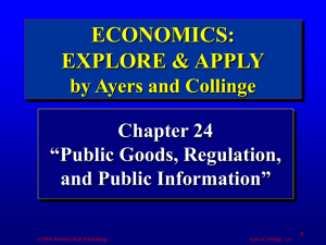 Public Goods, Regulation, and Public Information