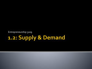Demand, Supply & Price